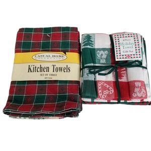 100% Cotton Christmas Kitchen Towels Bundle